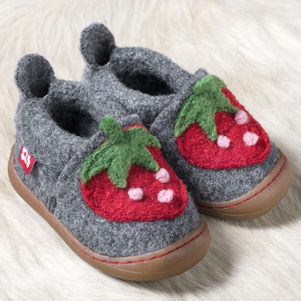 POLOLO Lauflernschuhe Woll-Primero Erdbeere