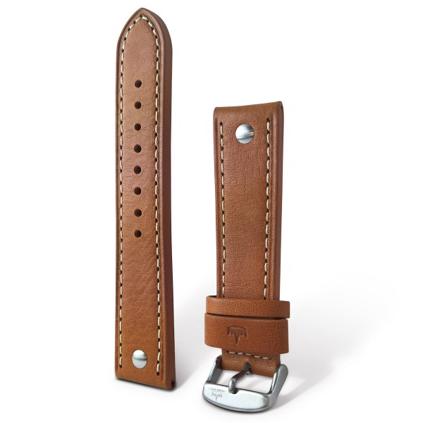 Leather strap with crocodile pattern in different colors